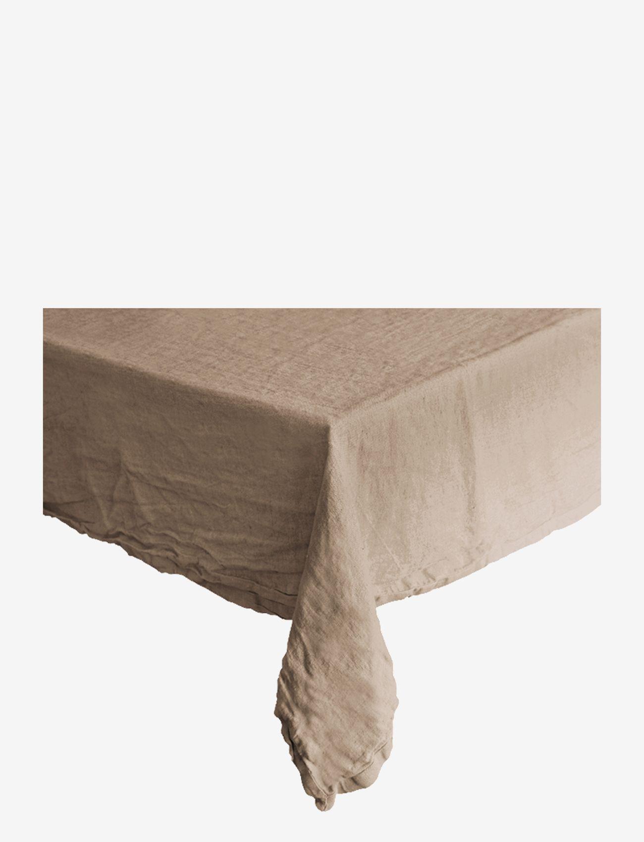 Au Maison - Table cloth Linen Basic Washed - duker & løpere - camel - 0