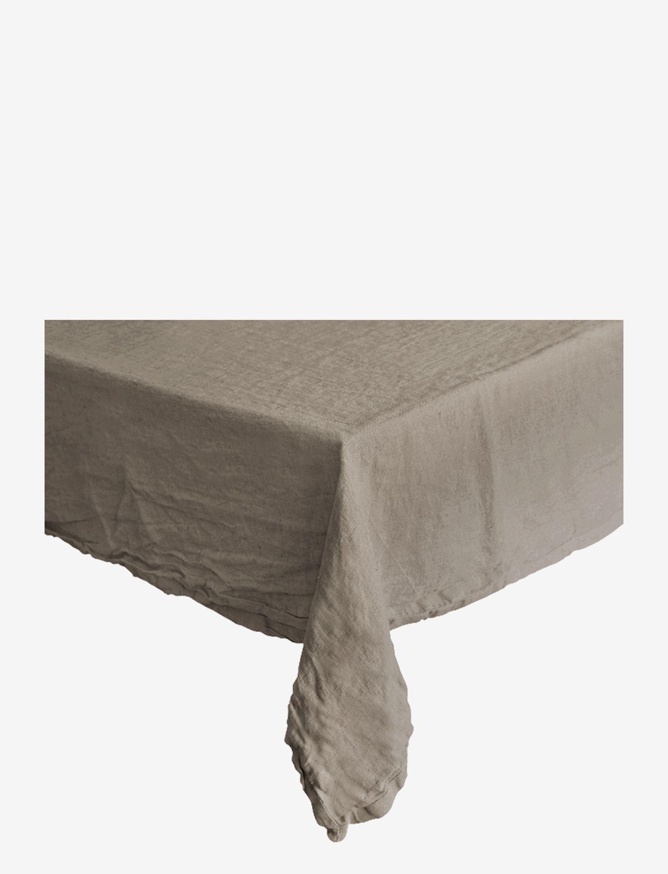 Au Maison - Table cloth Linen Basic Washed - duker & løpere - latte - 0