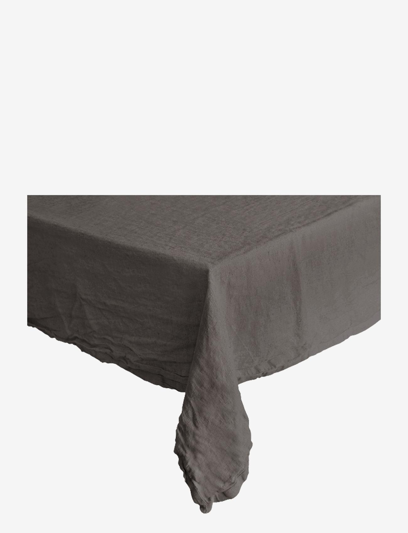 Au Maison - Table cloth Linen Basic Washed - duker & løpere - grey - 0