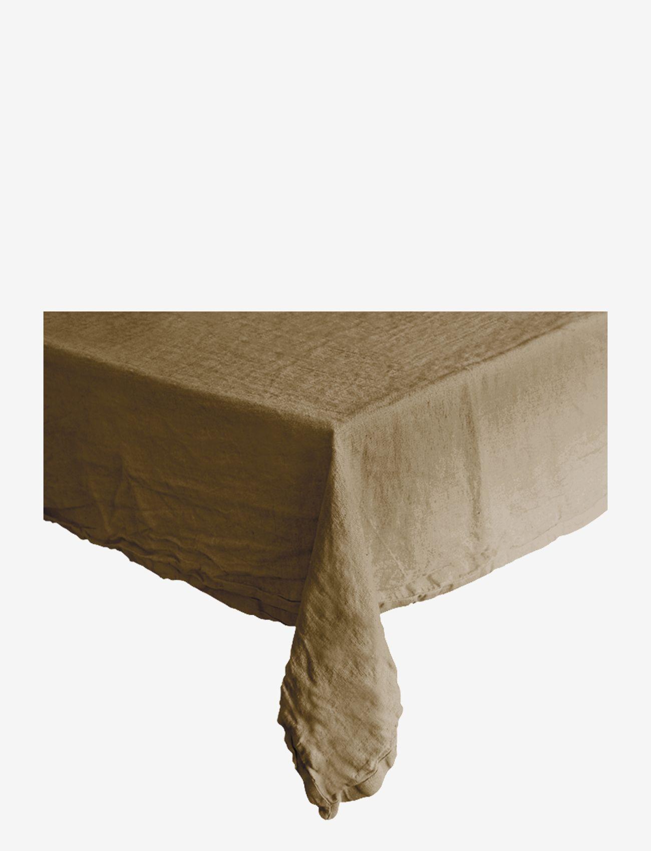 Au Maison - Table cloth Linen Basic Washed - duker & løpere - desert - 0