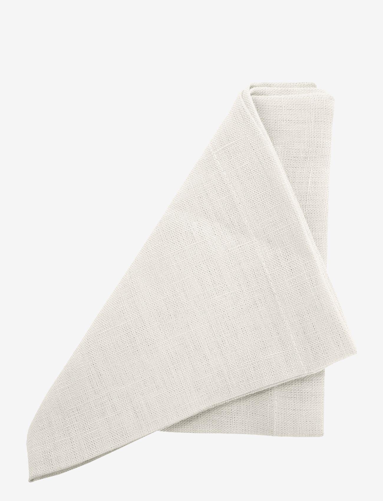 Au Maison - Napkin Linen Basic Washed (set of 4) - serveringsutstyr - white - 0