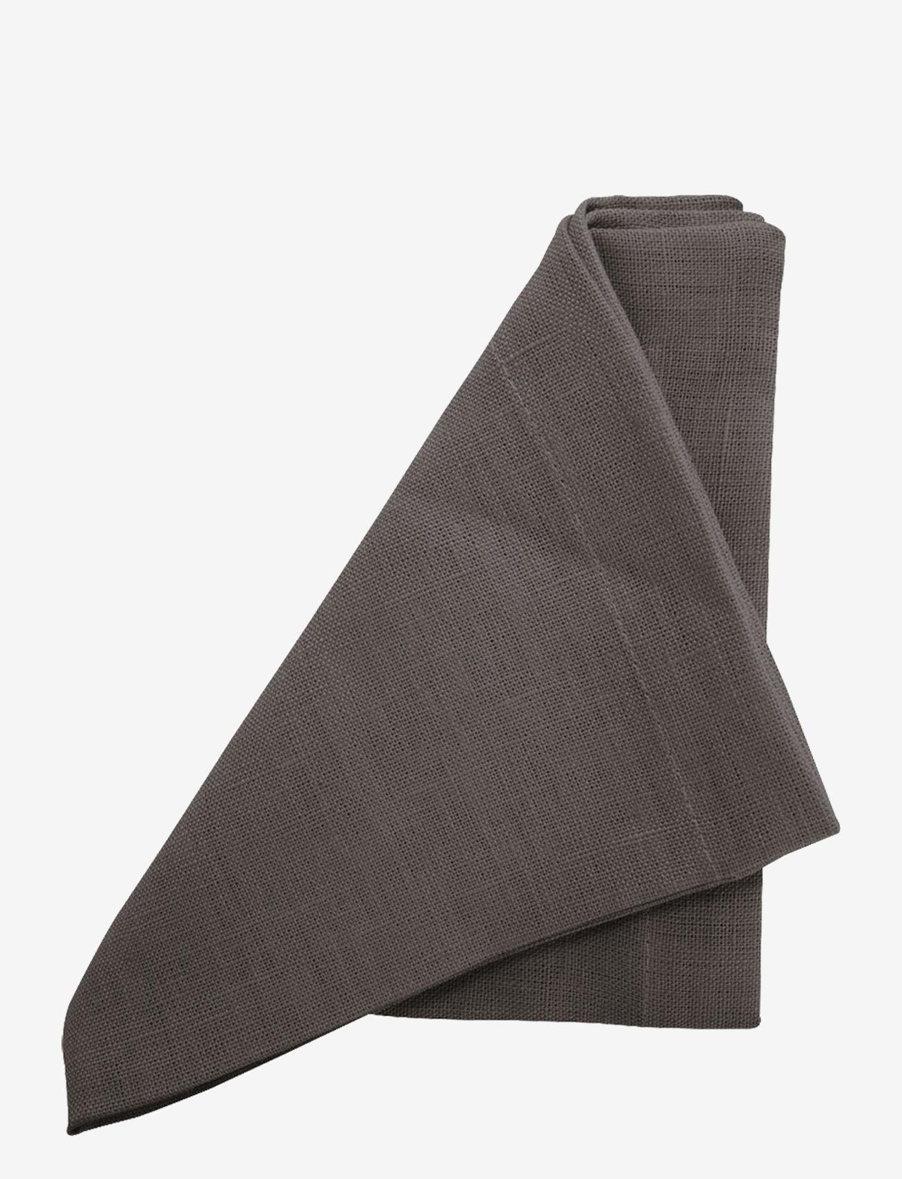 Au Maison - Napkin Linen Basic Washed (set of 4) - serveringsutstyr - grey - 0