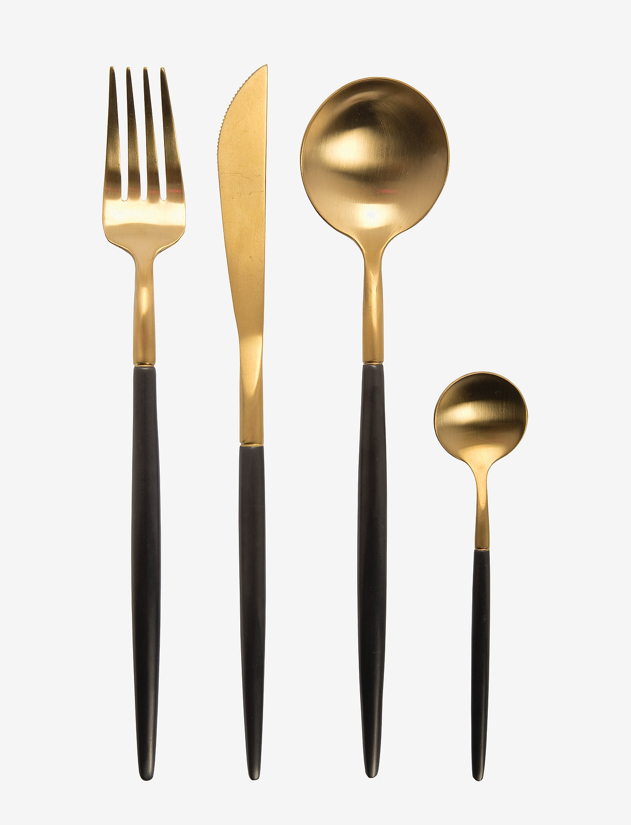 Au Maison - Cutlery Sapore (set of 4x4 pieces) - bestikksett - gold/black - 0