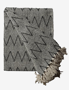 Throws Zigzag - tepper & pledd - off white/charcoal