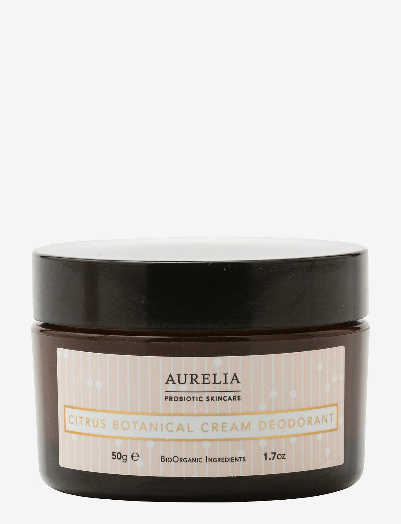 Aurelia Probiotic Skincare - Citrus Botanical Cream Deodorant 50g - deostift & krämer - clear - 0