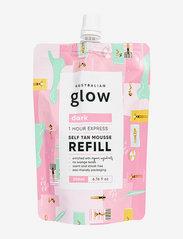 Australian Glow - One Hour Express Self Tanning Mousse Refill - brun utan sol - dark - 0