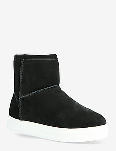 Basel - flat ankle boots - black/white