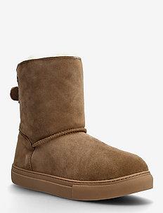 Florens - flat ankle boots - chestnut