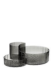 CONCHA bowls, set/3 - BLACK