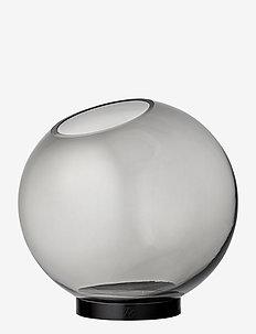 GLOBE vase w. stand - interiør - black/black