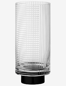 VITREUS vase - interiør - clear/black