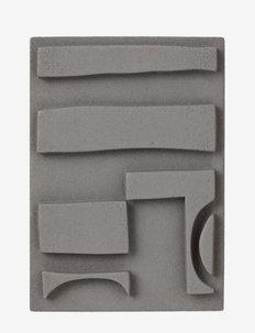 LDA wall relief - woningdecoratie - dark grey