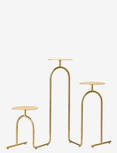 HIATUS Pedestal table - bord - gold
