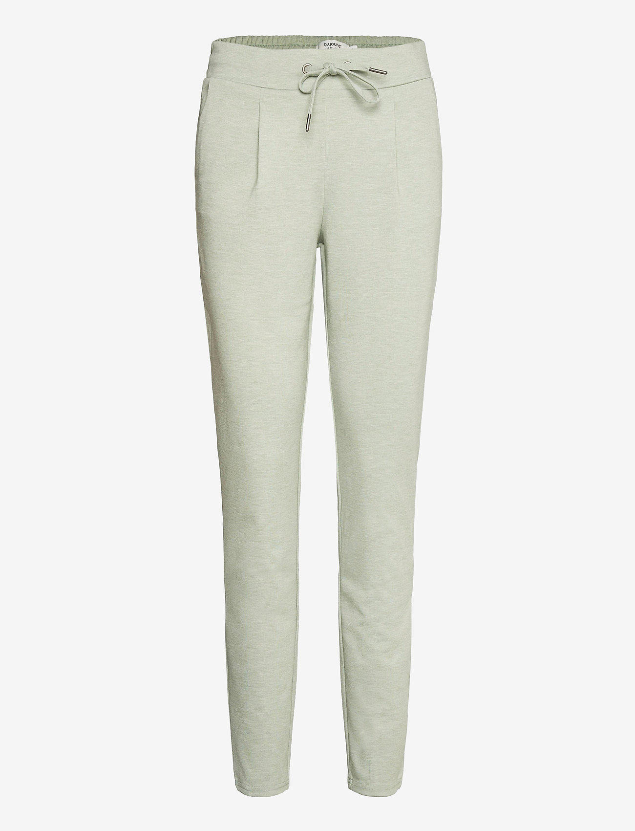 b.young - Rizetta pants 2 - Jersey - slim fit trousers - iceberg green melange - 0
