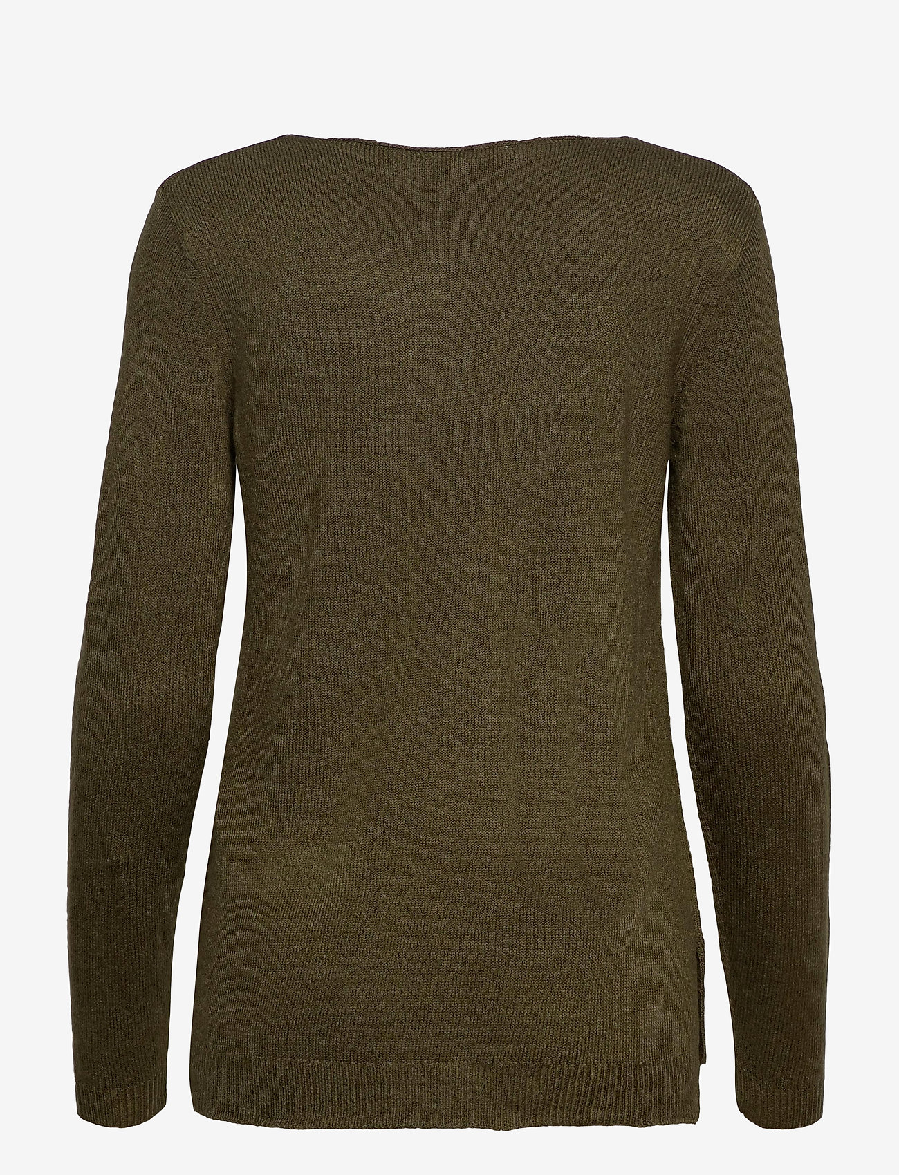 b.young - BYMALEA V NECK JUMPER - - jumpers - olive night - 1