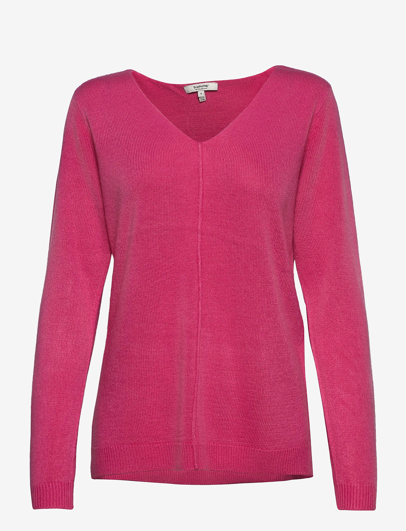 b.young - BYMALEA V NECK JUMPER - - jumpers - shocking pink - 0