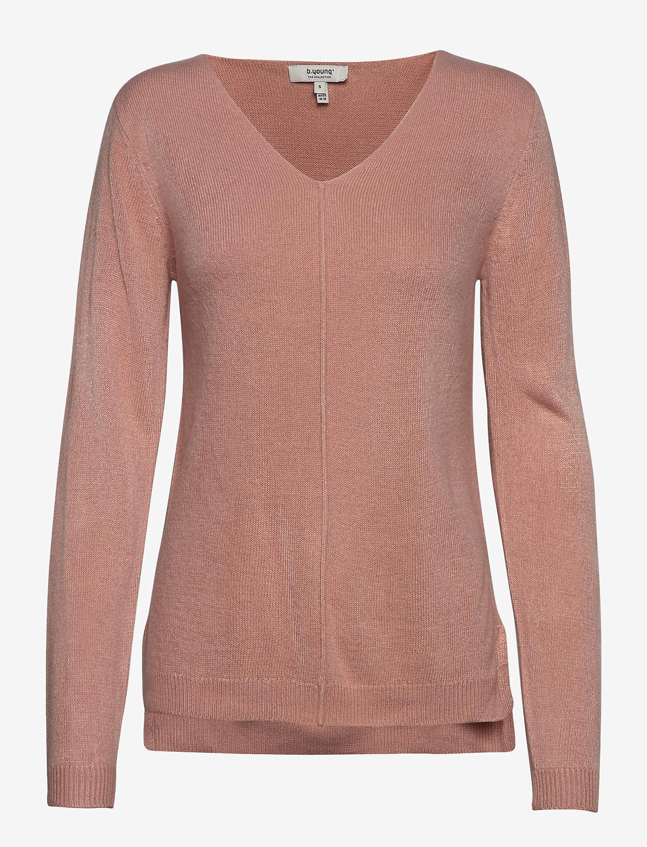 b.young - BYMALEA V NECK JUMPER - - tröjor - warm rose - 0
