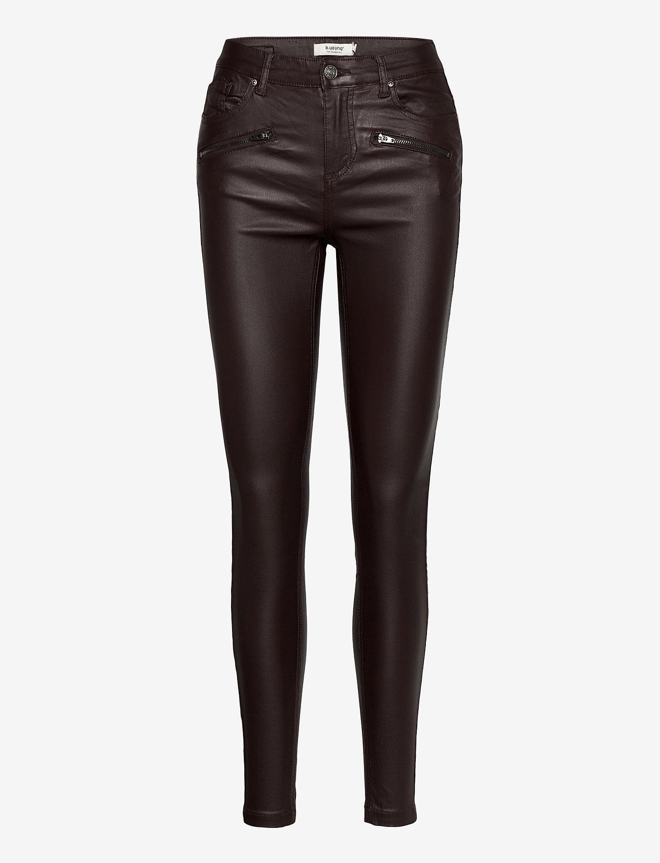 b.young - BYLOLA BYKIKO DECO ZIP - - trousers with skinny legs - chicory coffee - 0