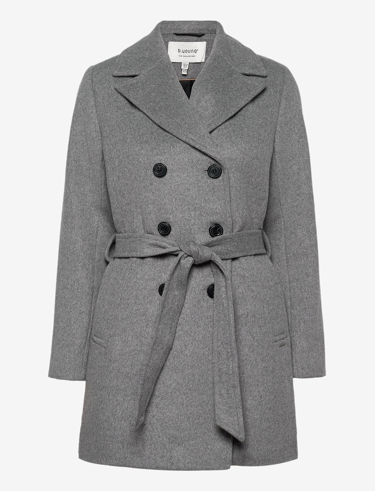 b.young - BYABIA COAT - - wool coats - med. grey mel. - 0