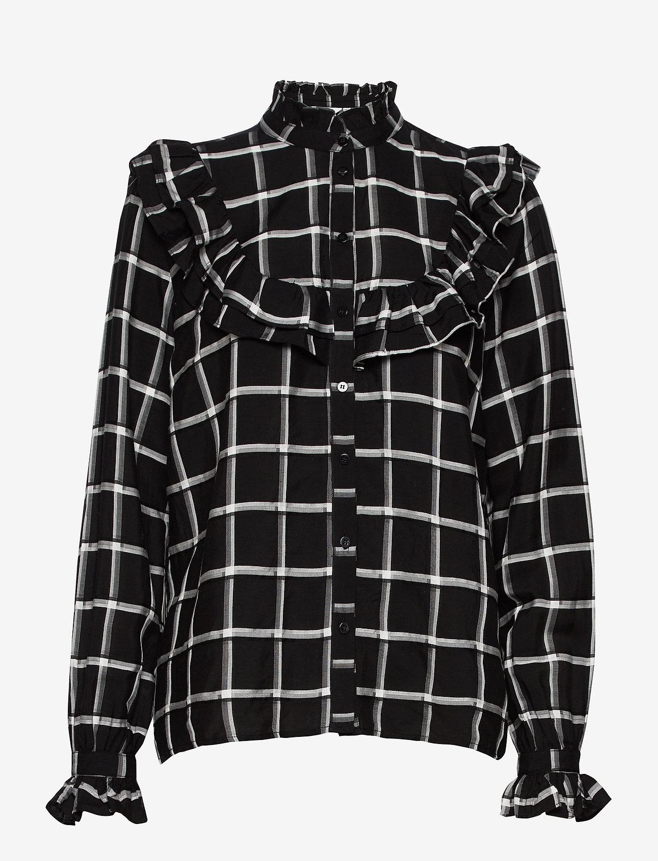 b.young - BYFLORI SHIRT - - chemises à manches longues - black combi 1 - 0