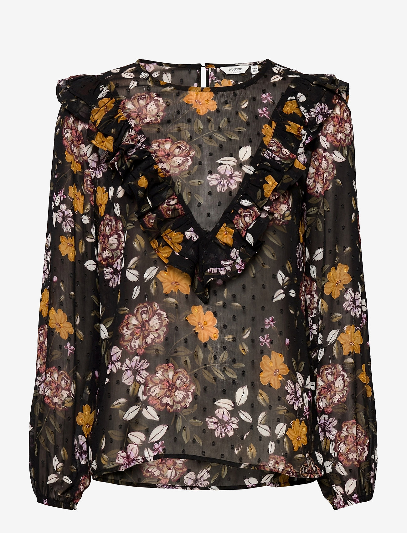 b.young - BYGINNI BLOUSE - - long sleeved blouses - black combi 1 - 0