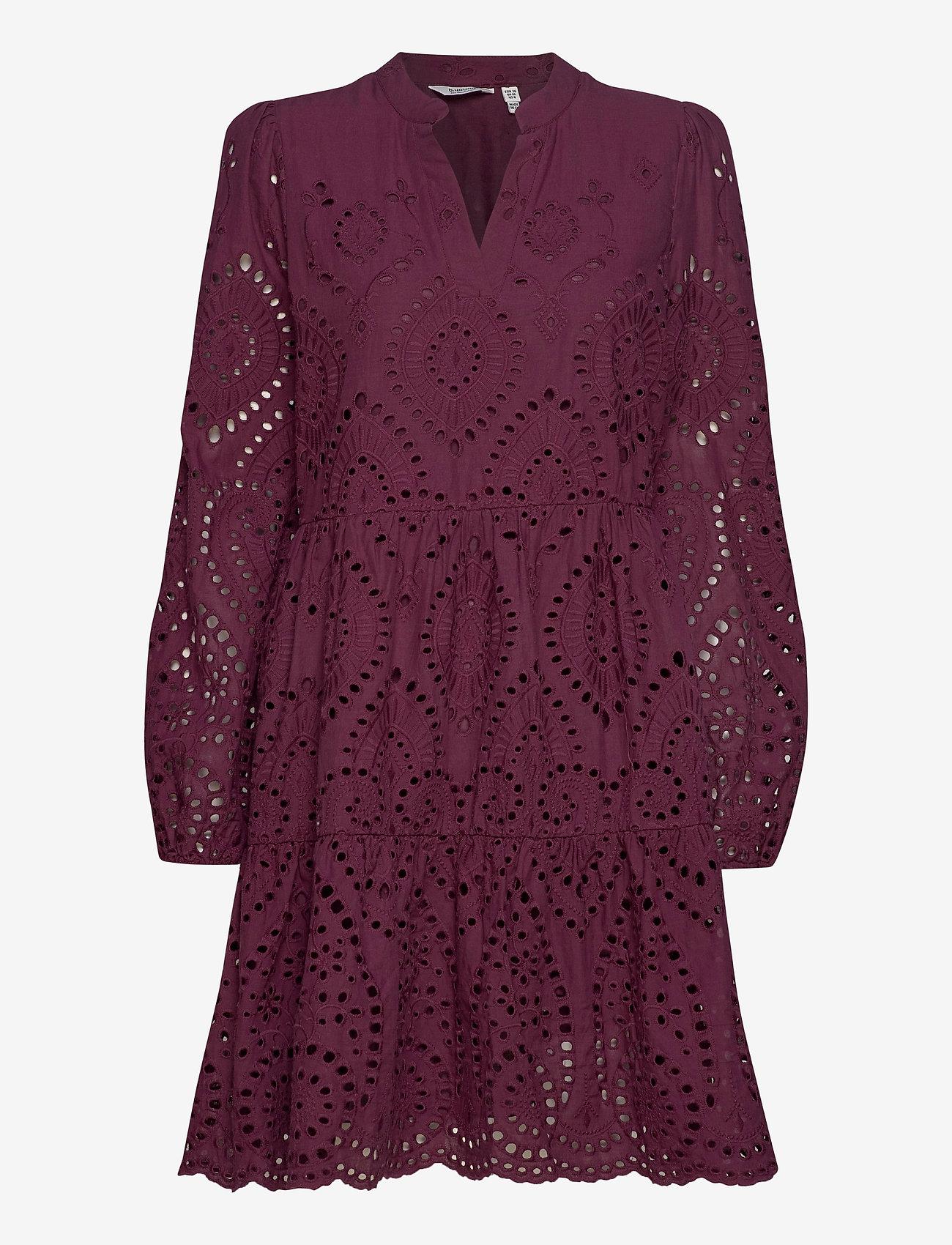 b.young - BYGABRIELLA DRESS - - midi kjoler - winetasting - 0