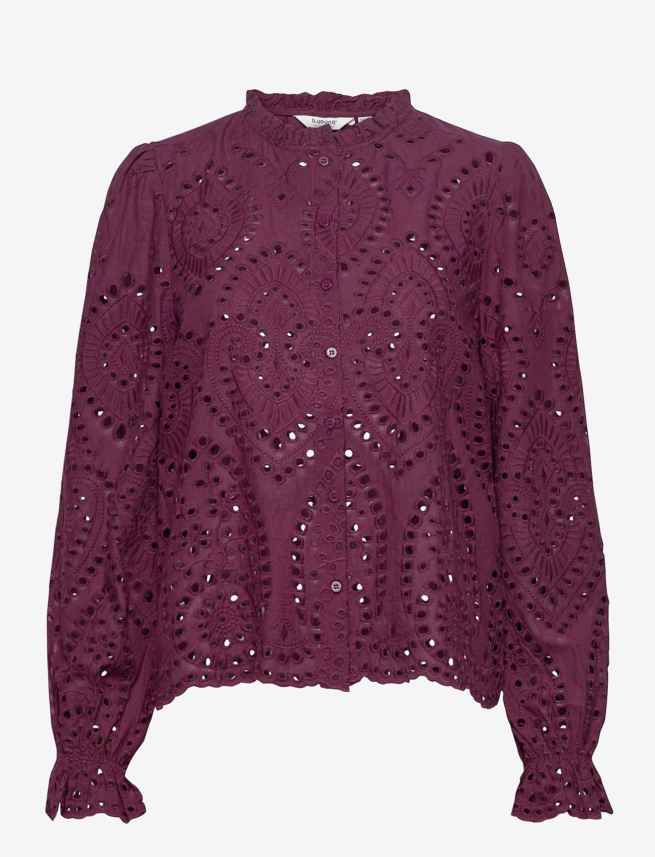 b.young - BYGABRIELLA BLOUSE - - long sleeved blouses - winetasting - 0