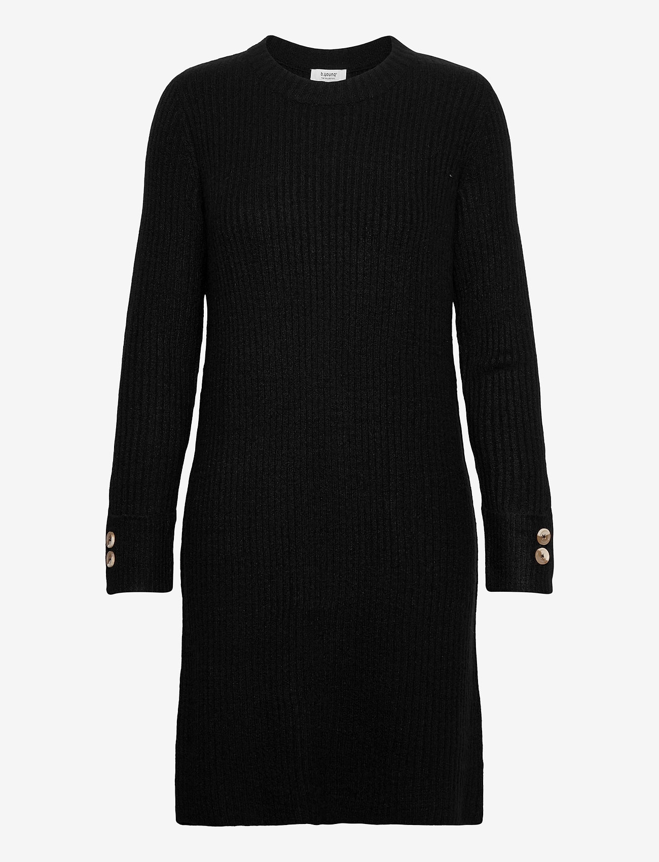 b.young - BYNORA DRESS - - strikkjoler - black - 0