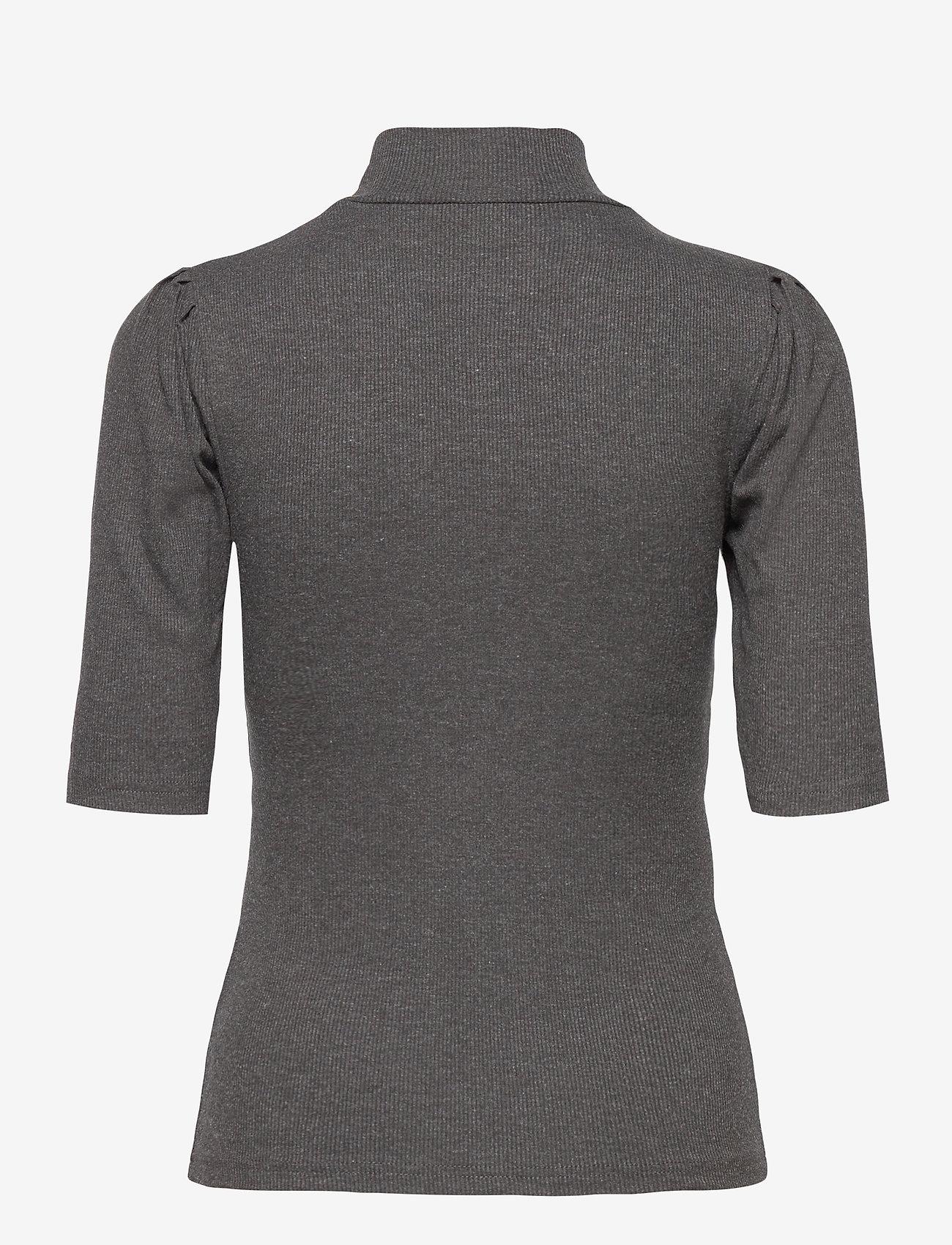 b.young - BYTOELLA SS TSHIRT - - t-shirts - dark grey melange - 1