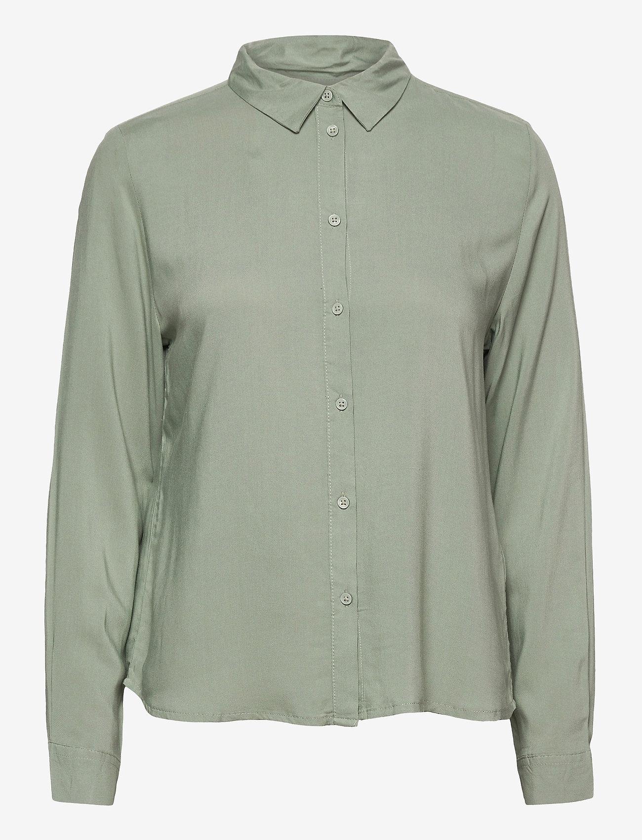 b.young - BYIDRA SHIRT - - long-sleeved shirts - iceberg green - 0