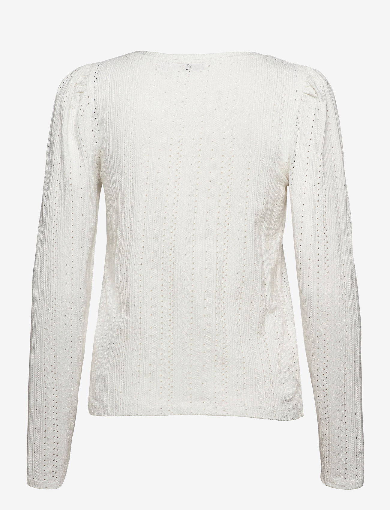 b.young - BYPIANNA LACE TSHIRT - - langærmede toppe - off white - 1