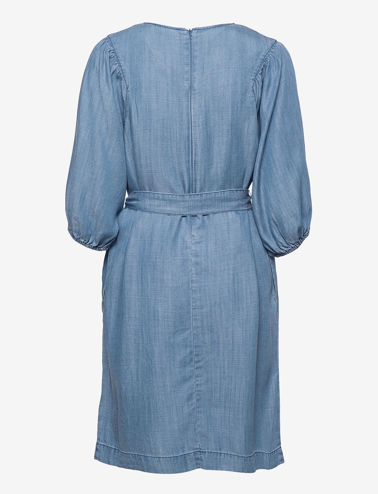 b.young - BYLANA PUFF SL DRESS - - everyday dresses - mid blue denim - 1
