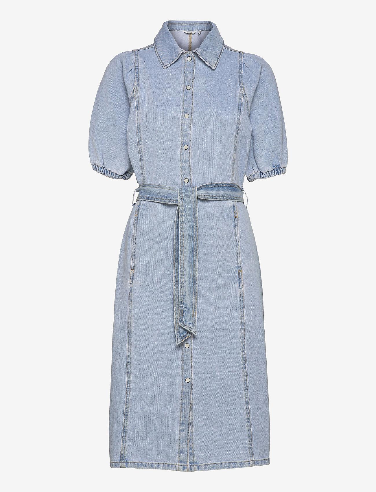 b.young - BYKEYLA DRESS - - summer dresses - ligth blue denim - 0