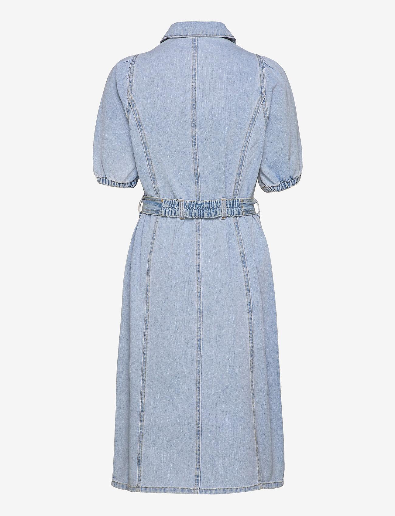 b.young - BYKEYLA DRESS - - summer dresses - ligth blue denim - 1
