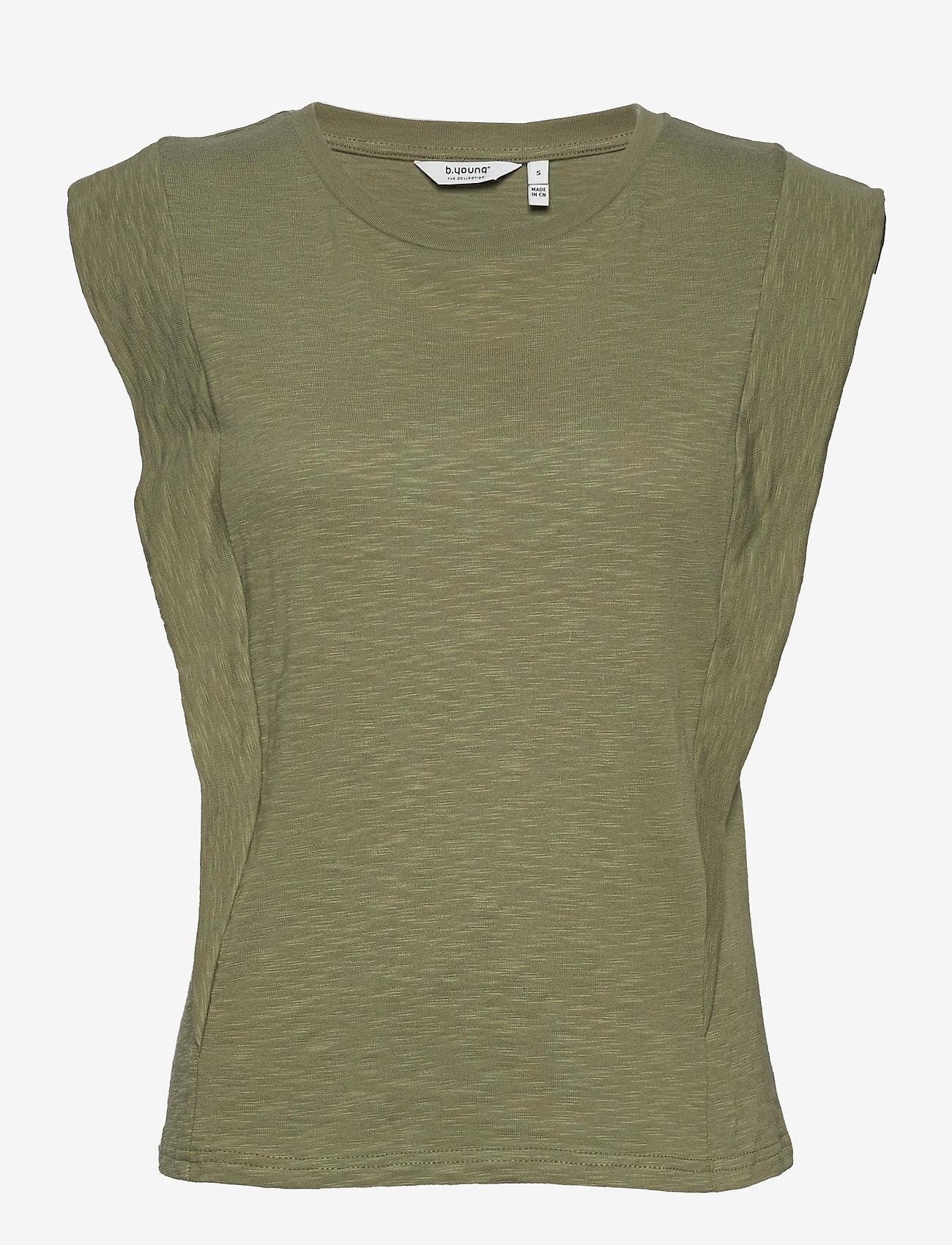 b.young - BYTELLA SLEEVELESS - - sleeveless tops - oil green - 0