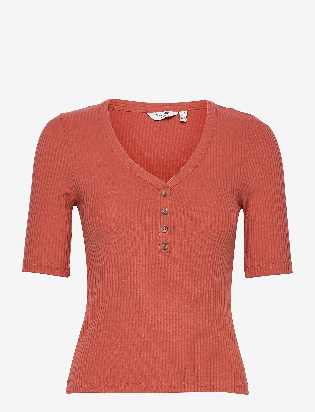 b.young - BYTOELLA SS TSHIRT 2 - - t-shirts - etruscan red - 0