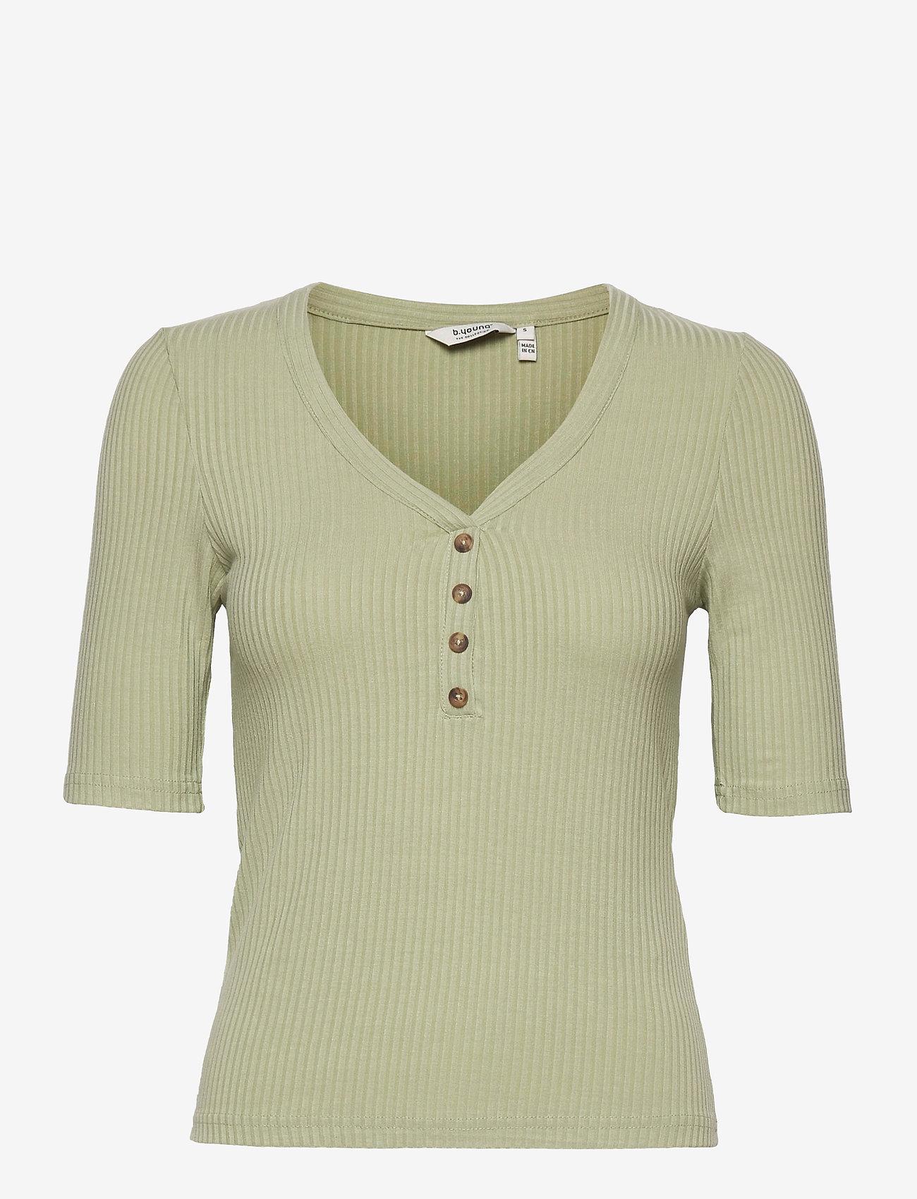 b.young - BYTOELLA SS TSHIRT 2 - - t-shirts - swamp - 0