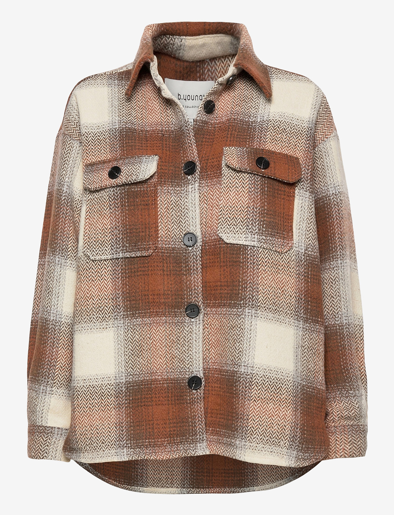 b.young - BXDORTHEA JACKET - overshirts - tortoise shell check - 0