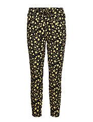 Rizetta crop pants - - CORNSILK FLOWER COMBI