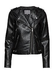 Apia biker jacket - - BLACK