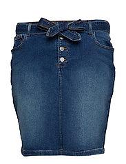 Locca skirt - - MED. BLUE DEMIN