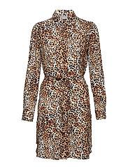Gigilula Shirt Dress - - MOONLIGHT LEOPARD COMBI 1