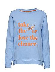 Rosie sweatshirt - - CORNFLOWER BLUE MEL.