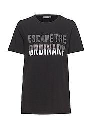 Pandina rhinestone tshirt - - BLACK