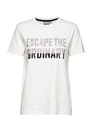 Pandina rhinestone tshirt - - OFF WHITE