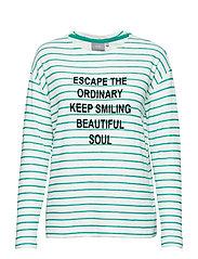 Samix blouse - - FRESH GREEN COMBI