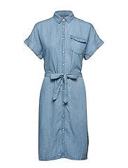 BYLANA SHIRT DRESS - - MED. BLUE DENIM