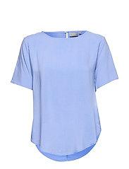 BYHAILEY O-NECK BLOUSE - - CORNFLOWER BLUE