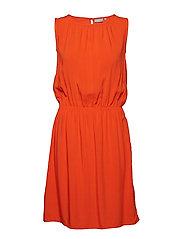 BYHAILEY SL DRESS - - SPICY RED