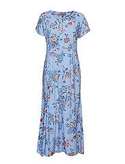 BYHAILEY LONG DRESS - - BLUE FLOWER COMBI 2